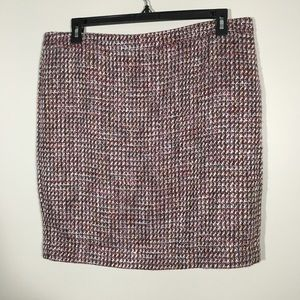 LOFT NWT Tweed multicolored Pencil Skirt SZ 16.